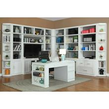 See Details - CATALINA 12 Piece Corner Library Wall with Writing Desk