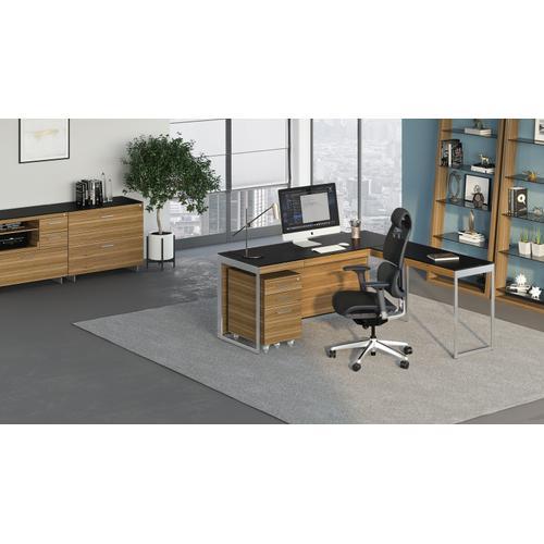BDI Furniture - Sequel 20 6101 Desk in Walnut Satin Nickel