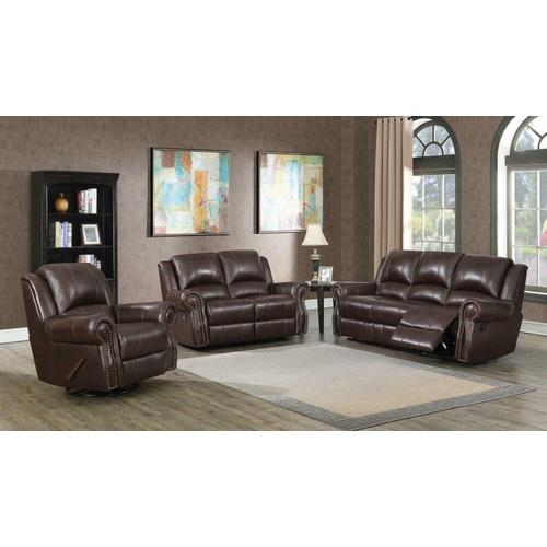 Product Image - Sir Rawlinson Burgundy Brown Motion Sofa, Loveseat and Recliner