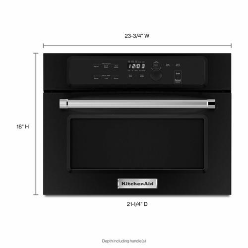 """KitchenAid - 24"""" Built In Microwave Oven with 1000 Watt Cooking - Black"""