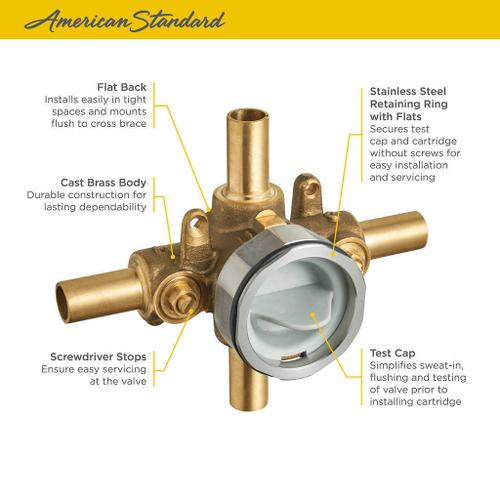 American Standard - Flash Shower Rough-in Valve with Stub-Outs with Screwdriver Stops  American Standard -