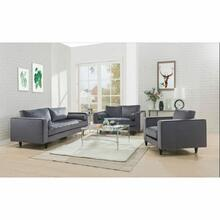 ACME Heather Sofa w/2 Pillows - 51070 - Gray Velvet