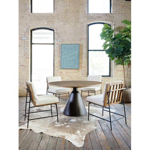Light Brushed Parawood Finish Bronx Dining Table