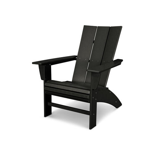 Black Modern Curveback Adirondack Chair