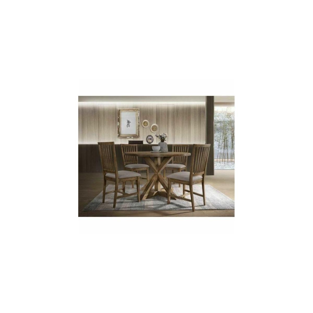 ACME Wallace II Dining Table - 72310 - Weathered Oak
