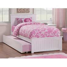 Nantucket Twin Bed with Matching Foot Board with Urban Trundle Bed in White