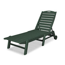 Green Nautical Chaise with Wheels