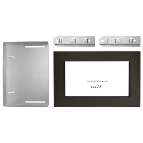 Whirlpool - 27 in. Trim Kit for Countertop Microwaves Black Stainless