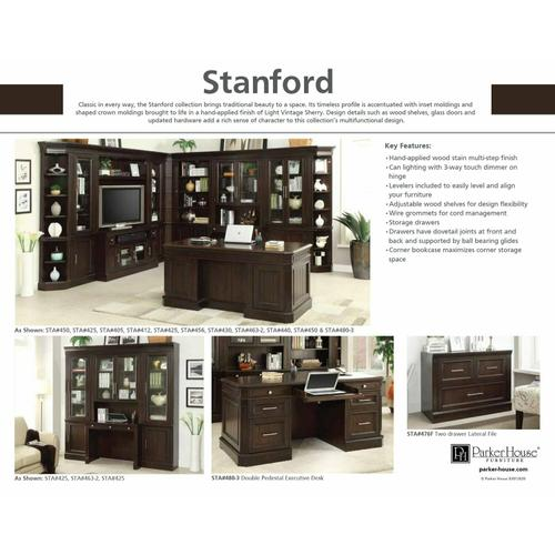 STANFORD Peninsula Desk Complete