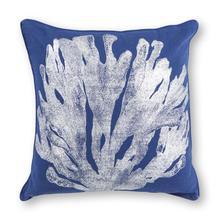 "Pillow L301 Blue/silver Coral 18"" X 18"""
