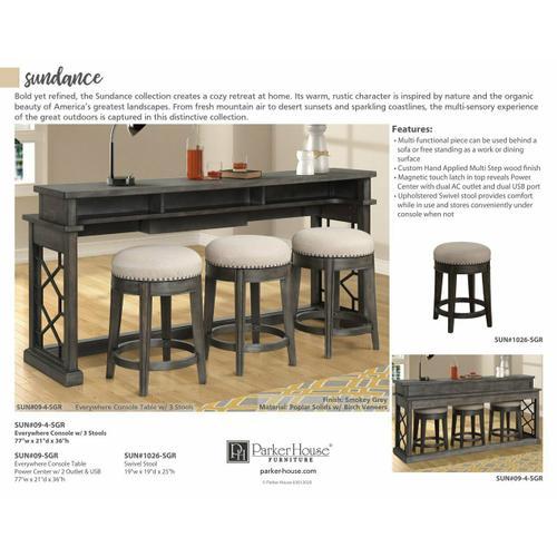 Parker House - SUNDANCE - SMOKEY GREY End Table