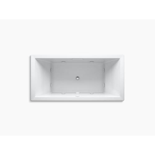 "Biscuit 72"" X 36"" Heated Whirlpool Bath With Center Drain"