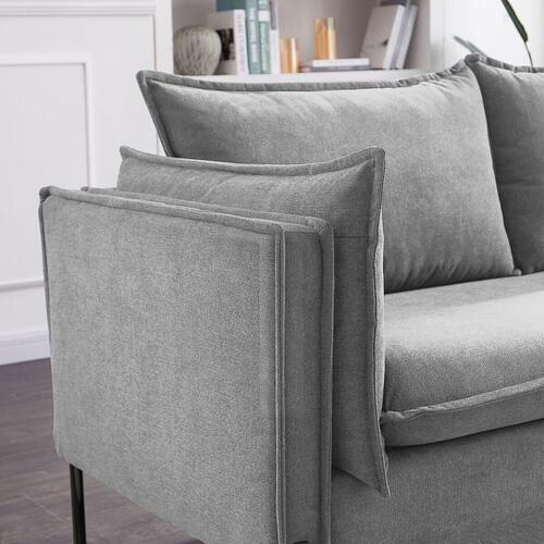 VIG Furniture - Divani Casa Randolf - Modern Grey Fabric Sofa