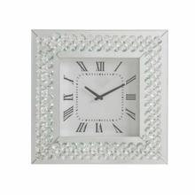ACME Lotus Wall Clock - 97044 - Mirrored & Faux Crystals