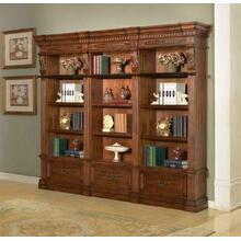 GRAND MANOR GRANADA 3 piece Museum Bookcase (9030 and 2-9031)