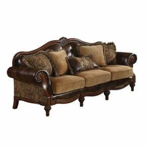 ACME Dreena Sofa w/5 Pillows - 05495 - PU & Chenille