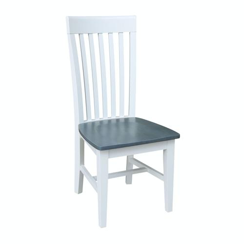 John Thomas Furniture - Tall Mission Chair in Heather Gray & White