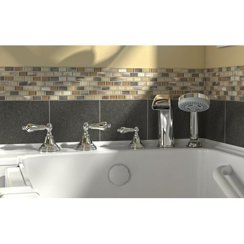 Acrylic Luxury Series 32x60 Combination Massage Walk-in Tub with Tub Filler, Left Drain  American Standard - Linen