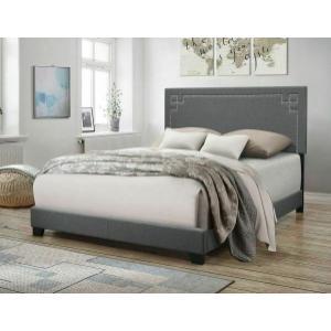 ACME Ishiko II Queen Bed - 20910Q - Gray Fabric