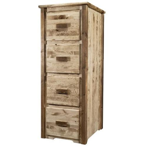 Montana Woodworks - Homestead Collection 4 Drawer File Cabinet, Stain and Lacquer Finish