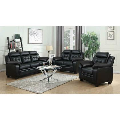 See Details - Finley Casual Black Padded Sofa