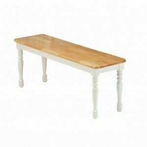 ACME Farmhouse Bench - 02864NW - Natural & White