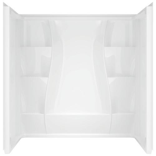 """High Gloss White 60"""" x 32"""" Shower Wall Set"""