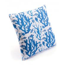 Blue Reef Pillow Blue & White