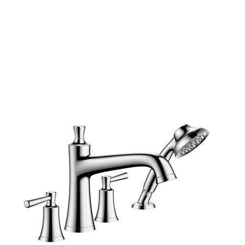 Chrome 4-Hole Roman Tub Set Trim with 1.75 GPM Handshower