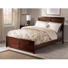 Portland Queen Bed with Matching Foot Board in Walnut