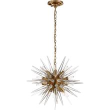 E. F. Chapman Quincy 20 Light 20 inch Antique Burnished Brass Pendant Ceiling Light in Antique-Burnished Brass, E.F. Chapman, Small, Sputnik, Clear Acrylic Shade