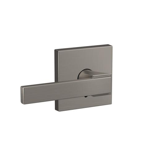 Custom Northbrook Lever with Collins Trim Hall-Closet and Bed-Bath Lock - Matte Black