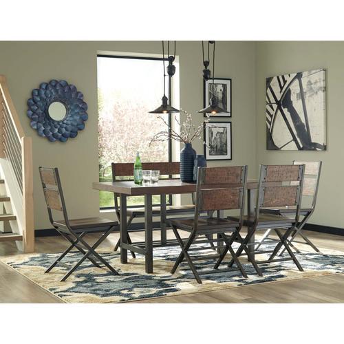 Hudson - Medium Brown 7 Piece Dining Room Set