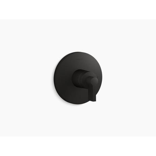 Kohler - Matte Black Thermostatic Valve Trim With Lever Handle