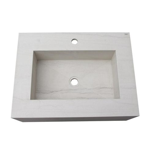"Precious 25"" Wall-Hung Sink with Invisible Drain - Carrara"