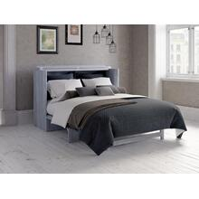 Deerfield Murphy Bed Chest Queen Driftwood Grey with Charging Station