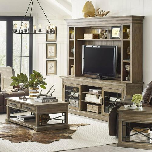 SUNDANCE - SANDSTONE 92 in. Console with Hutch & Backpanel