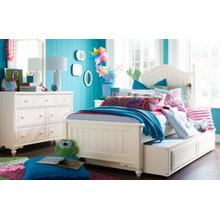 Summerset - Ivory Low Poster Bed, Twin