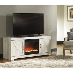 See Details - Bellaby LG TV Stand W/Fireplace Insert Whitewash