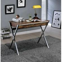 ACME Callers Desk, Weathered Oak & Chrome - 92340