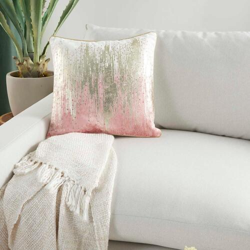 "Sofia Pn506 Blush 18"" X 18"" Throw Pillow"
