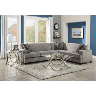 See Details - Tess Casual Grey Sectional