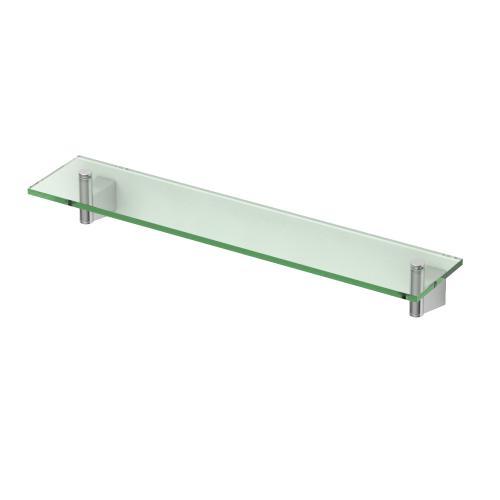 Bleu Glass Shelf in Chrome