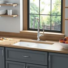 See Details - Delancey 30 x 19 Double Bowl Cast Iron Kitchen Sink  American Standard - Brilliant White
