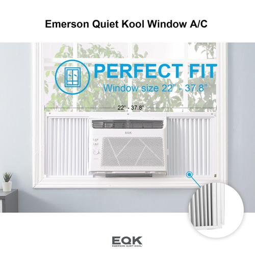 Emerson Quiet Kool Window Air Conditioner,5000 BTU with Thermostat Settings and 2 Fan Speeds, Multi-direction Airflow, EBRC5MD1H