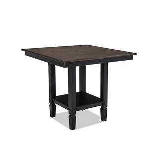 Glennwood Counter Table  Black & Charcoal