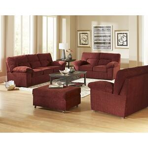 Chair \u0026 a half - Shown in 116-29 Red Chenille Finish