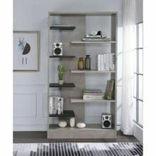 ACME Magna Bookshelf - 92532 - Faux Concrete & Black