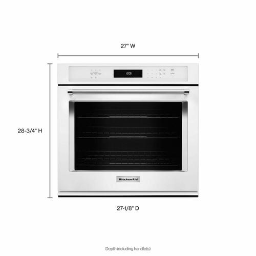 """KitchenAid - 27"""" Single Wall Oven with Even-Heat™ True Convection - White"""