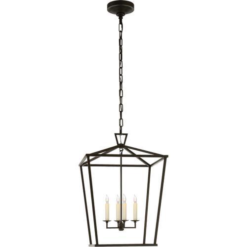 - E. F. Chapman Darlana 4 Light 17 inch Aged Iron Foyer Lantern Ceiling Light